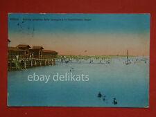 GRADO Gorizia spiaggia e bagni vecchia cartolina AK BELLA