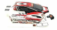 TROPHY Buggy BODY shell cover, Red White Black & decals 101806 (HPI flux 107016