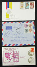 ITALY Airmail set of 3 covers Letters FDC MEC Vaticano Italia LUPO lettere h-8451