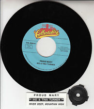 """IKE & TINA TURNER  Proud Mary & River Deep, Mountain High 7"""" 45 record NEW"""