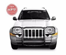 Fits 2002-2007 Jeep Liberty Brush Grille Guard Push Bar Black Powder Coated