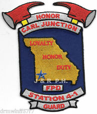 """Carl Junction  Station 4-1  """"Honor Guard"""", MO  (3.75"""" x 4.5"""" size) fire patch"""