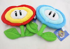 2 PCS Super Mario Bros Fire Flower & Ice Flower Plush Doll Soft Toy X'mas Gift
