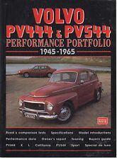 VOLVO PV444 & PV544 SALOON & CONVERTIBLE ( 1945 - 1965 ) PERIOD ROAD TESTS BOOK