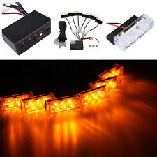 12V 6x3 LED CAR AMBER RECOVERY STROBE LED LIGHTS ORANGE GRILL BREAKDOWN FLASHING