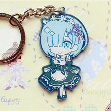 Re:ZERO Starting Life in Another World Rem double Acrylic Figure Key Chain Strap