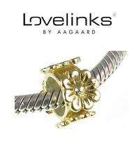 Genuine LOVELINKS GP 925 sterling silver flower bloom spacer charm bead, RRP £30