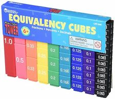 Learning Resources Fraction Tower Cubes Equivalency Set Inquiries (LER2509) XTS