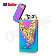 Double Arc Electronic USB Rechargeable Windproof Pulse Eagle Cigarette Lighter