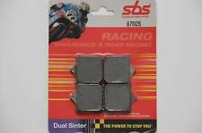 SBS 870 DS Sinter Bremsbeläge BMW S 1000 RR a pair of racing brake pads