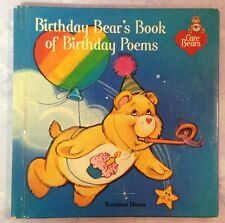 Care Bears Birthday Bear's Book of Birthday Poems Hardcover 1983