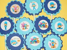 30 POCOYO Cupcake Toppers Birthday Party Favor, Baby Shower Decoration