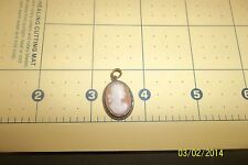 VINTAGE SIGNED 900 GENUINE CAMEO STERLING SILVER PENDANT STUNNING