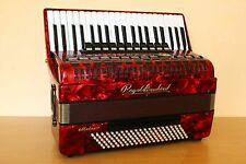 Royal Standard ( Weltmeister ) Meteor 120 Bass LMMH Accordion Fisarmonica Red