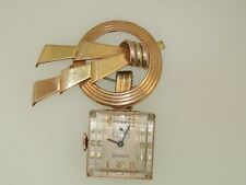 1920'S ART DECO DORSONS ROSE GOLD FILLED WATCH PIN & EMPIRE LUCITE WATCH!