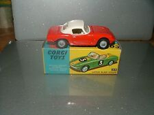 Corgi 319 Red & White Lotus Elan Hard Top. Issued 1967-69. VN/MINT MINT BOX