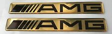 2x MERCEDES AMG Logo 3D Domed Stickers. Size 110x15mm.
