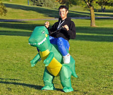 NEW Adult Inflatable Dinosaur Party Costume horse Motor Fancy Dress unisex