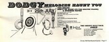 """NEWSPAPER CLIPPING/ADVERT 23/7/94PGN17 4X11"""" DODGY : MELODIES HAUNT YOU"""