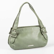 Mango MNG Green Faux Leather Handbag Purse Hobo Tote Satchel Shoulder Small Bag
