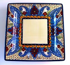 "EUC TABLETOPS UNLTD. ESPANA ""TOLUCA"" SQUARE DINNER PLATE 10 5/8 INCHES"
