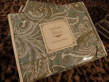 Noble Excellence Villa Sham Standard Blue Teal Paisley Pillow Case San Matteo