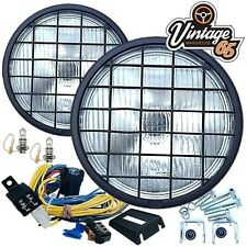 "Land Rover 6"" 55w Halogen Spot Driving Lights Stoneguards Grills Wiring Kit Pair"