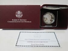 1998 Robert F Kennedy Proof Silver Dollar Commemorative