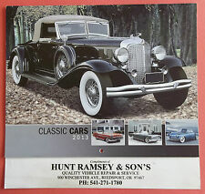 "2013 Classic Cars Hunt Ramsey & Sons Calender 10"" Inch Tall X 10 1/2"" Inch Wide"