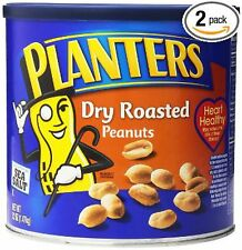 Planters Dry Roasted Peanuts 2 Cans x 52 oz = 104 oz Total
