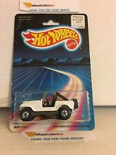 #17  Jeep CJ-7 3953 * White * 1987 Malaysia * Vintage Hot Wheels * E18