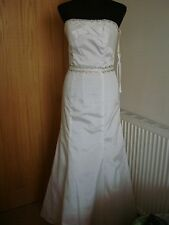 Forever Yours 38110 UK size 14 (USA 8) Taffetta Light Ivory Wedding dress New