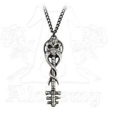 Alchemy Gothic Metalwear Satans Key to Hell Pendant Necklace Pewter P709