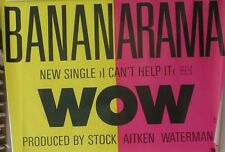 Bananarama - Wow, Rare UK Promo Poster