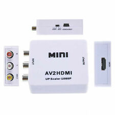 Mini 720p 1080p Upscaler Composite AV CVBS 3RCA to HDMI Video Converter Adapter