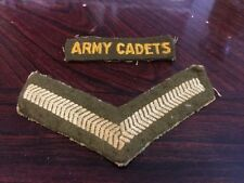Two Vintage Cloth Army Cadet Badges