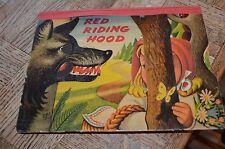 Vintage 1ST EDITION Red Riding Hood Pop-Up Book Voitech Kubasta 1961 Czech.