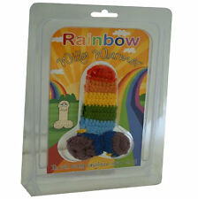 Knitted Rainbow Willy Warmer Fun Novetly Party Adult Secret Santa Gift Present
