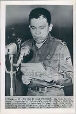 1957 Lieutenant Colonel Ventje Sumual of Indonesia Press Photo