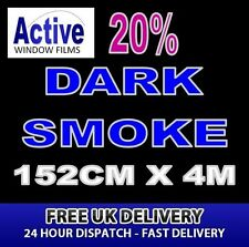 152cm x 4m - 20% Tint Dark Smoke Car Window Tint Film Roll - Pro Quality