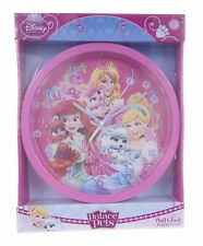 "OFFICIAL NEW 10"" DISNEY PRINCESS PALACE PET CHILDRENS CLOCK BEDROOM CLOCK"