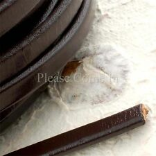 1m Dark Brown 9mm Flat Leather Cord for Bracelet Making
