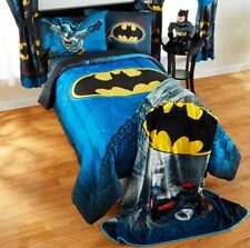 5pc BATMAN Full-Double Reversible COMFORTER+SHEETS SET Bed in a Bag Room Bedding