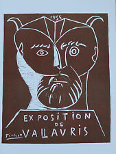 Pablo Picasso Lithograph Exposition de Vallauris II First Edition 1957