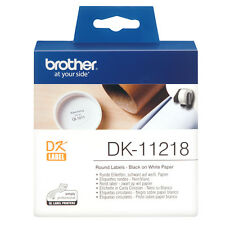 BROTHER DK-11218 BLACK ON WHITE PAPER LABELS ROLL / 1000 LABELS / 24mm ETIKETTES