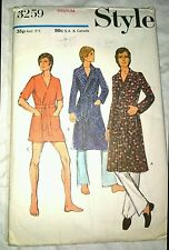 """Vintage Men's Robe Dressin Gown Pattern Chest 38""""-40"""" Shawl , Notched Collar"""