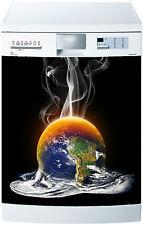 Sticker lave vaisselle déco cuisine électroménager Terre en feu réf 685 60x60cm