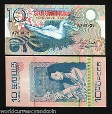 SEYCHELLES 10 RS.23 1979 RED FOOTED BOBBY BIRD UNC NOTE