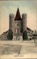 Basel Suisse Schweiz AK 1910 Spalentor Stadtmauer Schweiz Switzerland Postcard