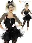 Size 8-22 80s Pop Star Fancy Dress Ladies 1980s Wild Child Womens Costume Outfit
